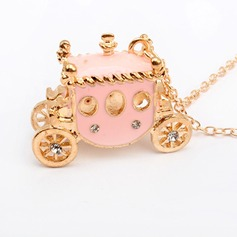 Cinderella Coach Alloy With Rhinestone Women's Fashion Necklace