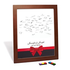 """Personalized """"Red Bowknot"""" Canvas Signature Platters"""
