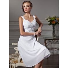 Empire Sweetheart Knee-Length Chiffon Bridesmaid Dress With Ruffle