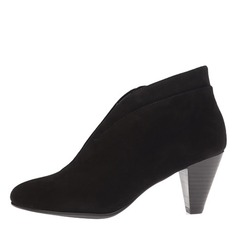 Women's Suede Cone Heel Pumps Closed Toe Boots Ankle Boots shoes