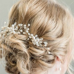 Ladies Beautiful Rhinestone/Alloy/Imitation Pearls Hairpins (Set of 3)