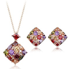 Exquisite Alloy/Cubic Zirconia Ladies' Jewelry Sets