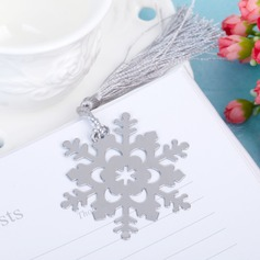 Snowflake Stainless Steel Bookmarks & Letter Openers With Tag/Tassel
