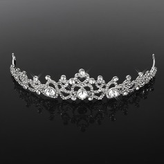 Tiaras Wedding Special Occasion Rhinestone Silver Headpieces With Clear (042018457)