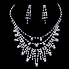 Exquisite Alloy/Pearl With Rhinestone Ladies' Jewelry Sets