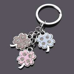 Classic Couple Clover Design Zinc alloy Keychains