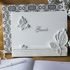 Butterfly Design Rhinestones Guestbook
