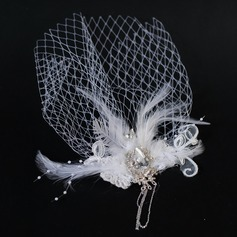 Elegant Feather/Tulle Fascinators