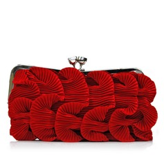 Lovely Silk With Ruffles/Rhinestone Clutches