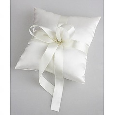Wedding Ring Pillow In Ivory Satin With Pearl(103018229)