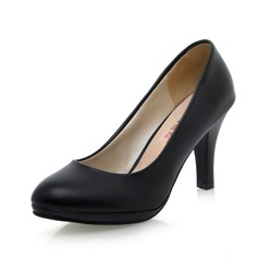 Women's Leatherette Spool Heel Pumps shoes
