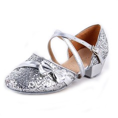 Women's Kids' Leatherette Heels Sandals Modern With Bowknot Ankle Strap Dance Shoes