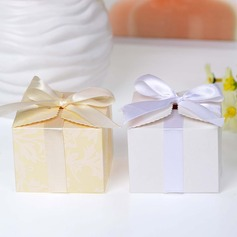 Beautiful Cuboid Favor Boxes With Bow (Set of 12)