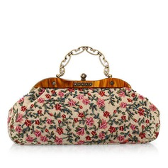 Charming Fabric With Beading/Floral Print Clutches