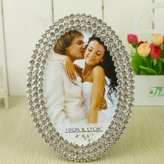 Bride & Groom Zinc Alloy Photo Frames With Rhinestone