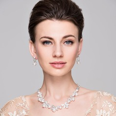 Elegant Alloy/Rhinestones With Pearl Ladies' Jewelry Sets