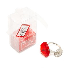 Classic Heart Shaped Chrome Keychains