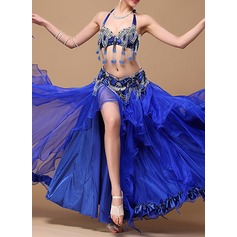Women's Dancewear Cotton Polyester Chiffon Belly Dance Outfits (115086454)