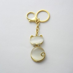 Lovely cat Zinc alloy Keychains