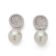 Exquisite Pearl/Zircon Ladies' Earrings