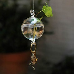 Diameter 12cm Lovely Elegant Hanging Glass Vase (Sold in a single piece)