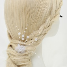 Lovely Alloy/Imitation Pearls/Tulle Hairpins (Sold in single piece)