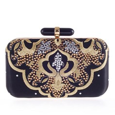 Elegant Velvet/Alloy Clutches/Satchel