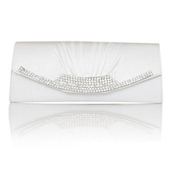 Gorgeous Satin With Crystal/ Rhinestone Clutches/Evening Handbags