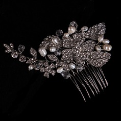 Leaves Shaped Alloy/Imitation Pearls Combs & Barrettes