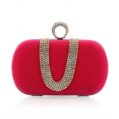 Fashional Velvet With Crystal/ Rhinestone/Beading Clutches/Evening Handbags