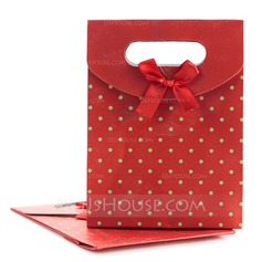 Polka Dots Pattern Favor Bags With Bow