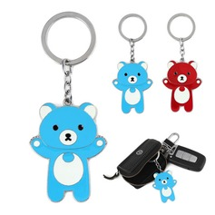 Teddy Bear Design Chrome Keychains