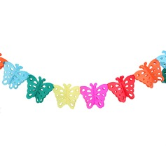 Colorful Butterfly Design Paper Banner