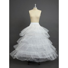 Women Nylon/Tulle Netting Floor-length 5 Tiers Petticoats