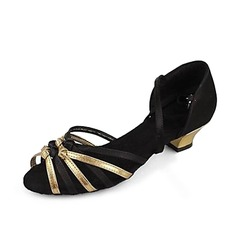 Satin Sandals Latin Ballroom Dance Shoes (053013137)
