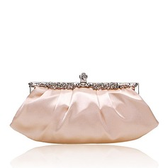 Personalized Special Satin With Rhinestone Clutches