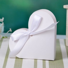 Heart-shaped Favor Boxes With Ribbons (Set of 12)