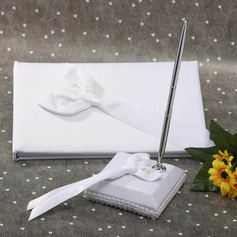 Calla Lily Satin Ribbons Guestbook/Pen Set
