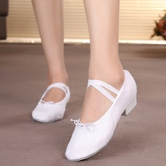 Women's Canvas Flats Ballet Jazz Dance Shoes