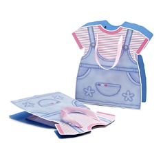 Baby Dress Design Favor Bags With Ribbons