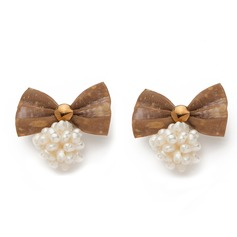 Lovely Textile With Imitation Pearl Ladies' Fashion Earrings