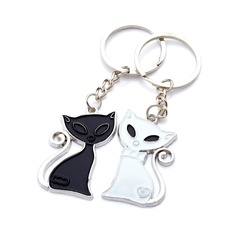 "Personalized ""Cute Fox"" Chrome Keychains"