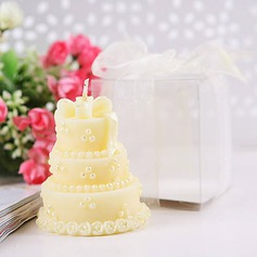Wedding cake candles in Yellow(set of 4)(096017619)
