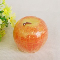Pretty Apple Shaped Paraffin Wax Candle