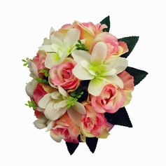 Lovely Hand-tied/Round Satin Bridal Bouquets