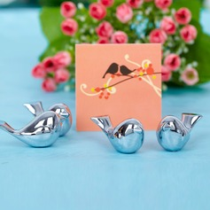 """Love Bird"" Chrome Place Card Holders"