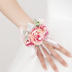 Romantic Free-Form Satin Wrist Corsage