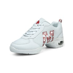 Women's Leatherette Cloth Sneakers Practice Dance Shoes