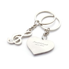 "Personalized ""Musical Notes"" Stainless Steel Keychains"