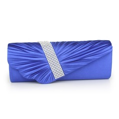 Elegant Silk With Crystal/ Rhinestone Clutches/Evening Handbags